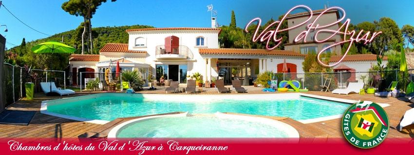 Location de chambres d'hôtes Val d'Azur à Carqueiranne