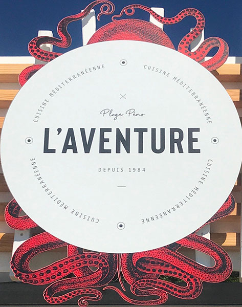 Restaurant de plage l'Aventure à Carqueiranne (Var)